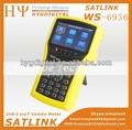 Satlink ws-6936 dvb-s dvb-t combo medidor de señal buscador ws6936 analzyer espectro de satélite medidor por ultrasonidos
