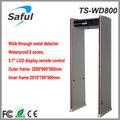Saful ts-wd800 caminhada através do detector de metais da porta, o detector de metais para comprar