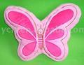 07099 de felpa y rellenos de cojines, forma de mariposa