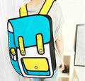 Especial 3d mochilas escolares para los adolescentes, mochila 3d