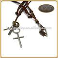 hxy couro novo design colar de corda