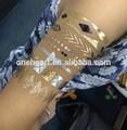 2014 venda quente da forma de ouro etiqueta do tatuagem para adultos