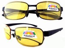 R11028 de vision nocturne lunettes de soleil polarisées lentille bifocale verres jaune, 1. 5 2. 0 2.5