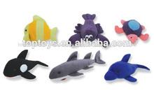 Xcl2318 mar de peluche juguetes de los animales, juguete de felpa peces