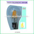 led Bombilla led a60 8w de la lámpara de vidrio globos terráqueos