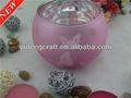 porta velas flotantes de cristal