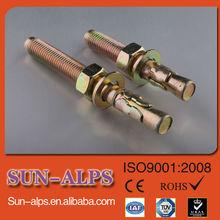 De haute qualité et différents types de fibre de verre jaune de zinc boulon d'ancrage