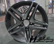 Nuevo! 2014 nuevo diseño negro/cromo amg replica llantas de coche