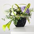 China de alta qualidade vaso de flor artificial, pequenos vasos decorativos de plástico