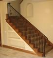 corrimão de escada em escada de madeira WH14H069