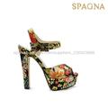 La decoración de flores sandalias para las niñas, hermosa chica zapatos 2014