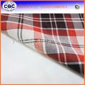 hilados teñidos tejido egipcio cepillado tela de algodón