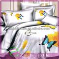 el fondo de color blanco de la mariposa de ropa de cama para los adultos