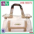 Las señoras elegantes bolsos de cuero blanco, moda de cuero mujer de compras bolsas de mano