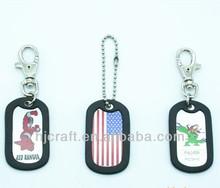promocionales de metal etiqueta de perro de cadena llave manualidades para niños
