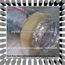 Semi- rígido de aluminio flexible de conductos de aire para la hvac, sistema de ventilación
