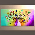 venta al por mayor textura a mano arte de la lona pinturas de flores de la pared
