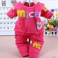 tcd1001 moda 2013 de la nueva llegada al por mayor de ropa barata llano lindo bebé de la impresión de algodón