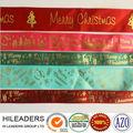 venta al por mayor ls123 borde tejido estampado en caliente de la cinta de satén para la navidad