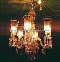 5 luces araña de cristal