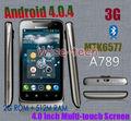 Caliente- vendedor Lenovo a789 teléfono dual core dual sim tarjetas wifi cámaras de doble bluetooth de fábrica de china androide