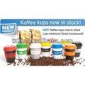 de plástico koffee kups con banda silion o 12oz 356ml