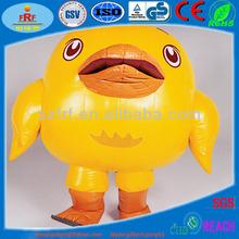 Inflable de pollo, de dibujos animados inflables de juguete inflable de pollo para la publicidad
