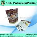 impresos personalizados ponerse de pie bolsa de mylar para alimentoscongelados
