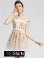 Sscshirts hermoso baratos design100% nuevo modelo 2014 vestido