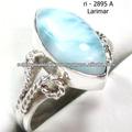 925 de plata de ley larimar anillos joyería piedranatural anillos de la joyería