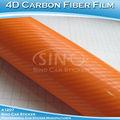 Película de la fibra de carbono de Orange 4D