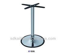 de acero inoxidable ajustable base de la mesa