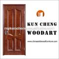 acabado de la superficie de acabado y puertas de entrada de tipo sólido de madera de madera de la puerta de entrada