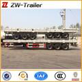 2 ou 3 eixos semi reboque flatbed 20ft/40ft container plataforma semi reboque caminhões para venda na europa