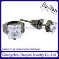 aretes de acero y crystal de moda 2013