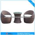 tubo redondo silla y mesa de centro muebles de ratán 6013