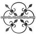 2201 sereda valla y puerta de ornamentales de hierro forjado rosetas