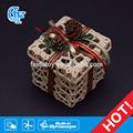 exquisito de ganchillo de algodón caja cuadrangular