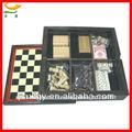 combinación de madera de ajedrez juego de conjunto en 7 1 jugar domino conjunto