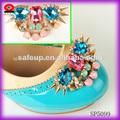 sp5099 de metal de oro de la moda las mujeres de acrílico decoración de calzado