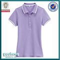 2014 caliente camisas de polo para las mujeres 100% pique polo