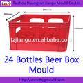 24 garrafas de cerveja de plástico caixa do molde de injeção
