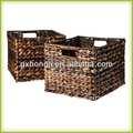 12x12 hoja de plátano cestas de almacenamiento