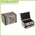 venta al por mayor de lujo de encargo brillante de embalajes de madera caja de joyería con la cerradura