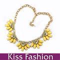 2014 novo chegou amarelo liga de ouro grandescadeia de jóias declaração adequado para vestido de noite
