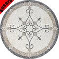 De mármol del azulejo del mosaico ronda medallón del mosaico flores patrón de mosaico de mármol de piso medallón
