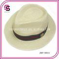 Elegante sombrero vaquero para hombre en paja