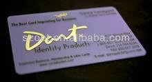 tarjeta conocida plástica, Tarjeta del nombre de negocio de los PP hecha del plástico claro o del material plástico del color