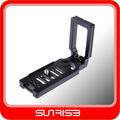 accesorios de la cámara adaptador de montaje de metal L para la cámara de Canon Nikon Sony DSLR