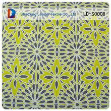 amarillo deslumbrante patrón cordón de poliéster tela burnout tela del cordón venta caliente